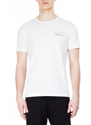 EA7 Emporio Armani  Regular Fit T Shirt Erkek T Shırt 3Hpt12 Pj02Z 1100 Beyaz